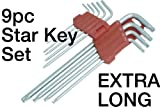 9 Pc EXTRA LONG Star Key Set - T10-T50 - High Quality Products