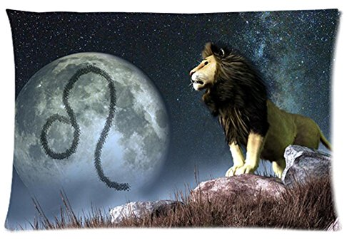 One Side Custom Rectangle Leo Of Zodiac Pillow Cases 16X24 Inch front-974916