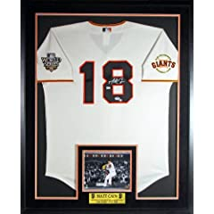 Matt Cain Autograph Signed SF Giants Jersey with Perfect Game Photo and Floating...