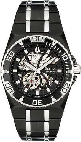 Bulova Men's 98A108 Marine Star Mechanical Hand-Wind Automatic Black Dial Watch