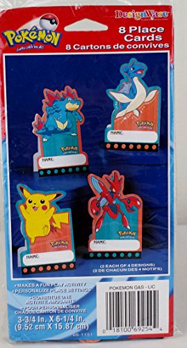 Pokemon Personalized Place Cards