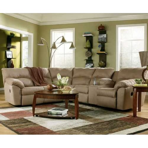 Amazon Mocha Reclining Sectional Sofa Sectional Sofa With Recliner