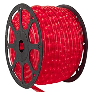 red led rope light 150 ft 3 wire 120 volt. Black Bedroom Furniture Sets. Home Design Ideas