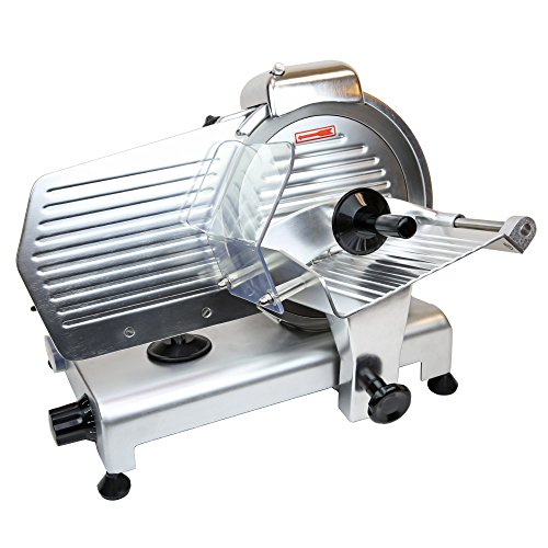 "Check Out This Commercial 10"" Electric Blade Semi-Automatic Meat Slicer 320w Food Veggies Fruit"