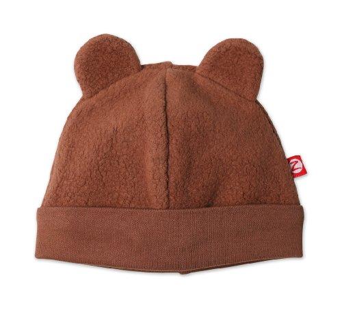 Zutano Infant Unisex-Baby Fleece Hat,Chocolate,12M (6-12 Months)