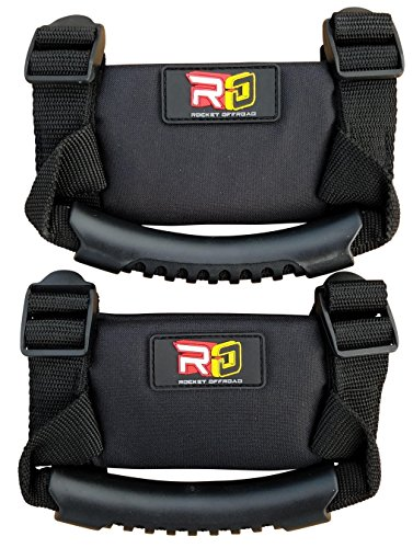 Rocket-Offroad-RO-20161-Black-Rocket-Offroad-UTV-Hand-Hold-Pair1-Pack