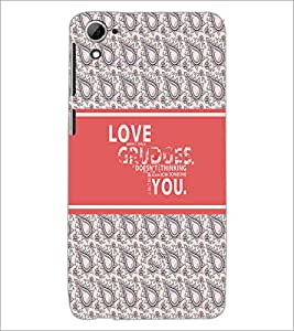 PrintDhaba Quote D-5750 Back Case Cover for HTC DESIRE 826 (Multi-Coloured)