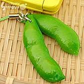 そっくり 食品サンプル 携帯ストラップ (エダマメ/2個付き)