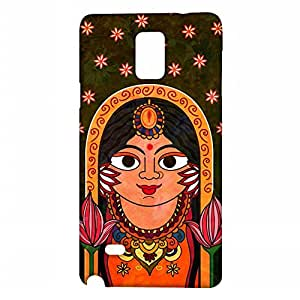 RANGSTER The Queen-Rangful Matte Finish Mobile Case For Samsung Galaxy Note 4 (SM-N910G)-Multicolor