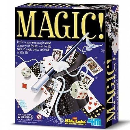 4M - Coffret de jeux de magie + de 12 tours de magie Enfants 8 ans +