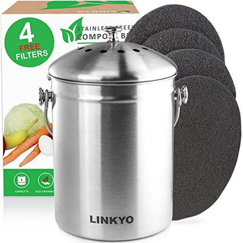 linkyo-compost-bin-4-filters-stainless-steel-kitchen-composter-1-gallon