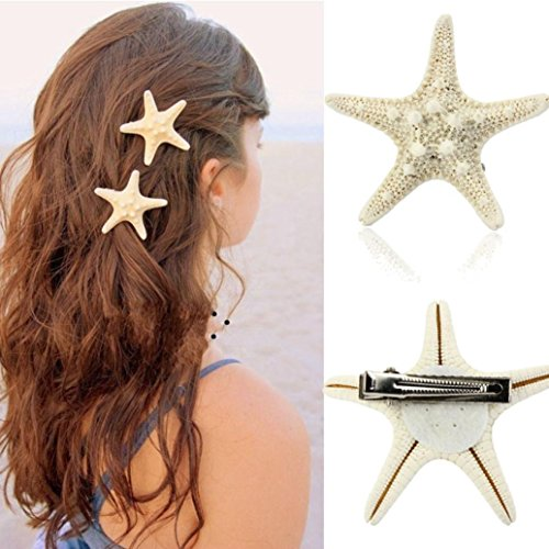 DZT1968(TM)1PC Women Girl Bride Shoot Daily Beach Wedding Party Starfish Headwear Hair Pin With Clip