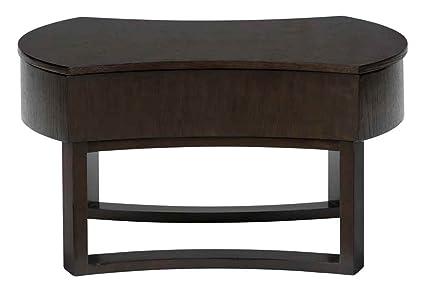 Jofran Parker Wood Swivel Oval Top Coffee Table in Oak