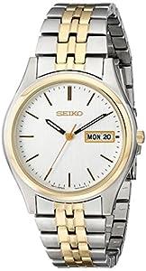 Seiko Men's SGGA52 Dress Two-Tone Silver Dial Watch