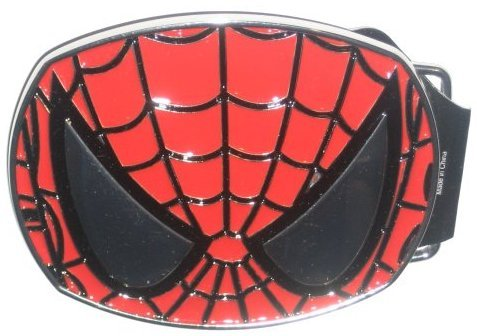 Marvel Spiderman Face Mask Enameled Belt Buckle 42694