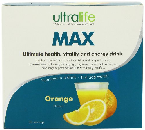 Ultralife Max 8 g Orange Energy Drink Powder Sachets - Box of 30