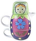 Brandani-56881-Thire-Egoste-Poupe-Russe-Cramique-Vert