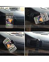 HuaYang Voiture universel support de montage de l'air de ventilation de voiture support de téléphone pour iPhone 4S 5S Galaxy Note 2 3 S4 S5(Noir)