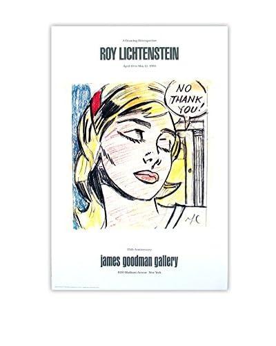 Roy Lichtenstein No Thank You! 1984 Unframed Poster, Multi