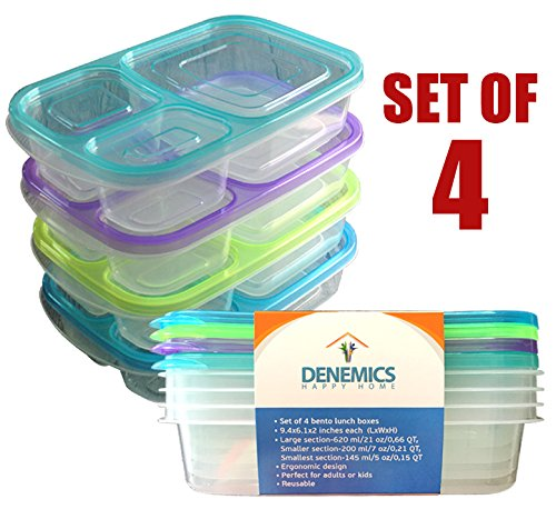 CozYours BENTO LUNCH BOX SET; Lunch Box For Children, Toddlers & Adults; (lunch boxes kids, lunch box girls, lunch box adult, lunch containers, the bento box) (Lunch Containers For Toddlers compare prices)