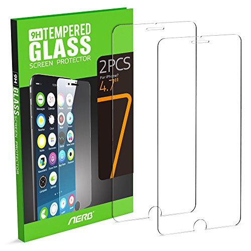 iPhone 7 Screen Protector, Aerb [2 Pack] 9H Hardness Crystal Clear Premium Tempered Glass Scratch Proof Screen Protector For Apple Iphone 7