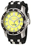 Invicta Mens 6988 Pro Diver Collection GMT Yellow Dial Black Polyurethane Watch