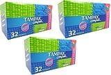 3x Tampax Compak Jumbo Pack Super 32 Applicator Tampons