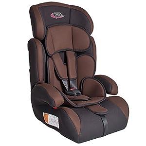 TecTake 400215 Siège auto Groupe I/II/III pour enfants 9-36 kg 1-12 ans Café