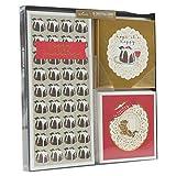 Hallmark Lot de 18 cartes de voeux traditionnelles en boîte Doré