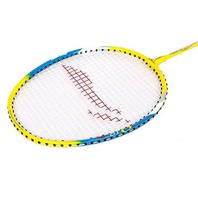Li-Ning Q10 JR Basic Q series Badminton Racquet White/Blue with Grip Pack of 2