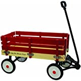 """Grand Forward Little Box 34"""" Wooden Wagon, Red"""