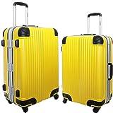 スーツケース 軽量 フレーム TSAロック 旅行かばん トラベルバッグ キャリーバッグ 玄武 (小型、S、20, イエロー)
