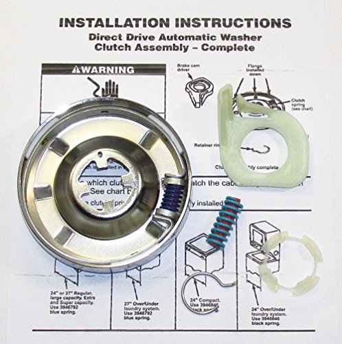 PS334641 WASHER CLUTCH KIT FOR WHIRLPOOL KENMORE SEARS ROPER ESTATE KITCHENAID ...