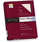 Southworth Linen Résumé Paper, Almond, 32 Pounds, 100 Count (RD18ACFLN)