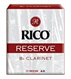 Rico Reserve Bb Clarinet Reeds, Strength 4.0, 10-pack