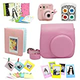 Fujifilm Instax Mini 8 Instant Camera Accessory Bundles Set (Included: Pink Mini 8 Vintage Case Bag/ Pink Hard Cover Instax Mini Book Album / Pink Rabbit Design Mini 8 Close-Up Lens(Self-Portrait Mirror)/ Colorful Close-Up Lens For Mini 8/ Wall Decor Hanging Frame/ 3 Inch Photo Frame/ Colorful Decor Sticker Borders)