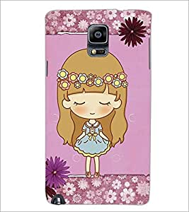 PrintDhaba Cute Doll D-3527 Back Case Cover for SAMSUNG GALAXY NOTE 3 (Multi-Coloured)