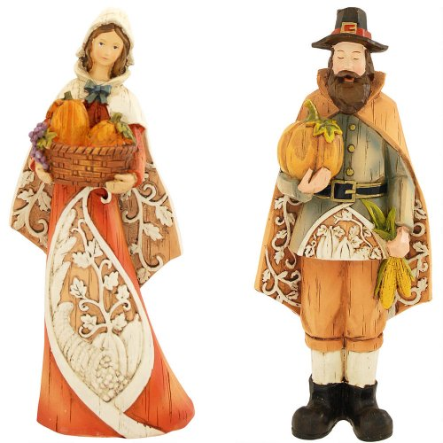 Thanksgiving Pilgrims Filigree Figurine Set (36967)