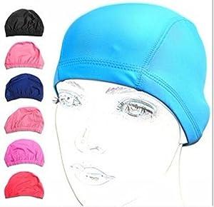 EWIN(R) 3pcs Silicone Lycra swimsuit cloth pure color swimming cap/swim cap/swimming hat for adult men women