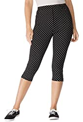 Woman Within Women's Plus Size Capri Length Stretch Knit Leggings