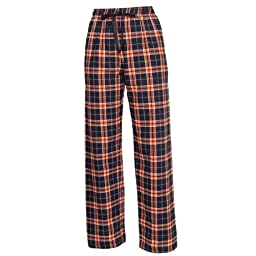 Boxercraft Plaid 100% Cotton Flannel Pant F20, Orange/Black- S