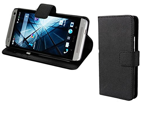 Mylife (Tm) Asphalt Black {Hip Design} Faux Leather (Card, Cash And Id Holder + Magnetic Closing) Slim Wallet For The All-New Htc One M8 Android Smartphone - Aka, 2Nd Gen Htc One (External Textured Synthetic Leather With Magnetic Clip + Internal Secure Sn