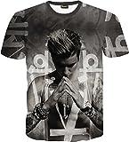 (ピゾフ)Pizoff メンズ Tシャツ 3D おもしろ ストリート 原宿系 ヒップホップ 軽快 カジュアル 男女兼用 トップスY1625-85-M