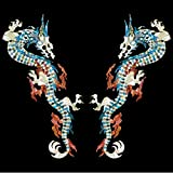 Inlay Sticker Decals for Guitar Bass - L&R Set Fire Dragon -WS