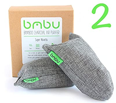 100g x 2 Bamboo Charcoal Air Purifier Bags ? Shoe Deodorizer and Gym Bag / Locker Air Freshener ? Remove Odor and Control Moisture in your Sneakers, Uggs, Sperrys ? Non-Fragrant Alternative to Sprays