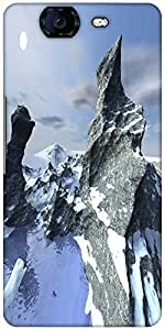 Snoogg Mountains Designer Protective Back Case Cover For Micromax Canvas Knig...