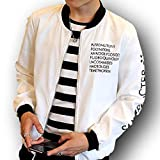 XL ホワイト(フルールアンフェ)FleurUneffe メンズ ナイロン ジャンパー 白 黒 紺 ホワイト ブラック ネイビー (XL, ホワイト)
