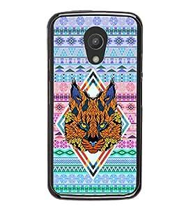 Fuson Premium 2D Back Case Cover Patterened Lion With Brown Background Degined For Motorola Moto G2 X1068::Motorola Moto G (2nd Gen)