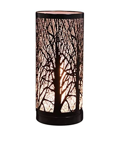Fantastic Craft 11.5 Touch Birch Table Lamp, Black