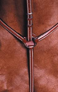 Kincade Raised Standing Breastplate - Color:Brown Size:Full